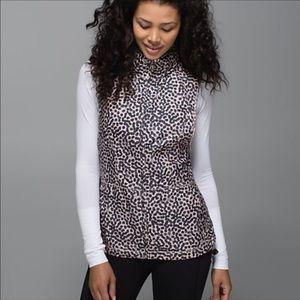 Lululemon Leopard Print Hooded Vest